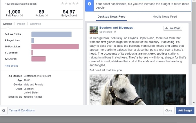 Facebook Insights - Bourbon and Bluegrass